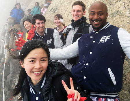 Teacher trip to the top of iconic Mount Hua